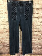Lux Jeans Size 10 High Waist Wide Leg Weave