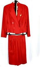 """Vintage Retro 1980s wool Christian Dior two piece """"working girl"""" power-suit"""