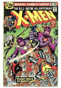 X-Men 98 Vs. Sentinels! Kirby and Lee app! Claremont 1976 Marvel Comics B906
