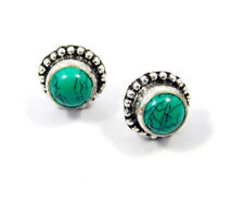 Stud Earring Jewelry Jc8153 Turquoise .925 Silver Plated Handmade