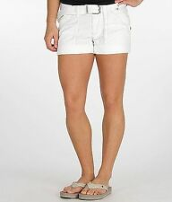 ROCK REVIVAL Jeans Sale NWT/DEFECT Mid Rise White Flap Pocket Cuffed Shorts 24