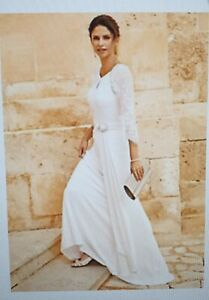 BNWT Kaleidoscope Beaded  Wedding Long Dress Ivory Size UK 10 RRP £329