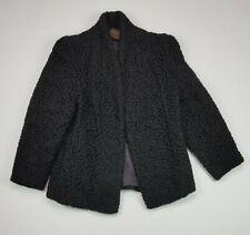 Vintage Jacques Saint Laurent Women's Braided Black Cotton Blazer Jacket Size XL