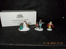 Dept. 56 Heritage Village - Playing In The Snow - Set of 3 - #55565