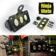 Side Mount License Plate Bracket Brake Taillight Holder For Harley Chopper BLACK