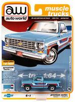 1976 Chevy Bonanza Truck Skyline Blue Stripes AUTO WORLD DIE-CAST 1:64