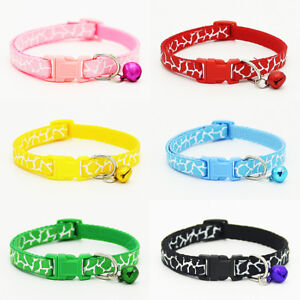 6PCS LOT Dog Collars Nylon Pet Cat Collar Buckle Puppies Necklace Gift Wholesale