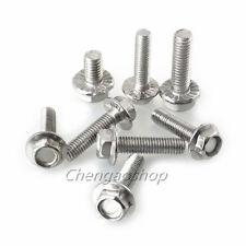 304 Stainless Steel Size M4 M5 M6 M8 Hex Head Flange Bolts Cap Screws #Q2800 ZX