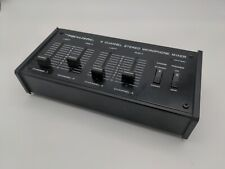 Realistic Radio Shack 4 channel Stereo Microphone Mixer 32-1105A Tested Works