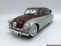 Tatra 87 1937 - silber/dunkelrot - 1:18 MCG  >>NEW<<  Frei Haus*