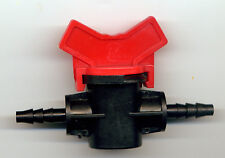 LOT DE 3 VANNES CANNELEES pour tuyau 4/7mm goutte à goutte et hydroponie