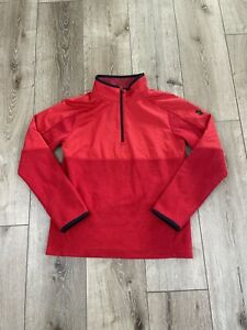 New Boys Under Armour 1/2 Zip fleece Pullover Jacket Red Large