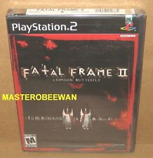 PS2 Fatal Frame II Crimson Butterfly Original 1st Print New Sealed PlayStation 2