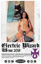 """Electric Wizard """"U.S. Tour 2018"""" Portland Concert Tour Poster - Doom Metal Music"""