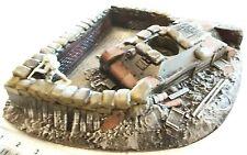 WWII & KOREA BURNT OUT TANK & WALL/DEBRI 54mm CAST FOAM ATHERTON SCENICS (#9907)