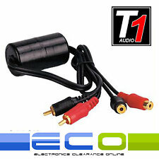 T1 Audio Car O Dj Amplificador Amp Rca bucle de tierra aislador ruido Hum Filtro