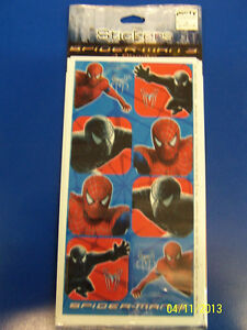 RARE Spider-Man 3 Movie Superhero Kids Birthday Party Favor Scrapbook Stickers *