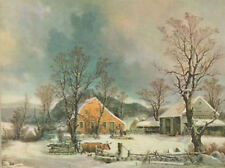 40s Print Winter in Country by Durrie