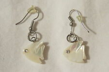 """Preowned Dangling White Fish With Zirconia Eyes 1.5"""""""