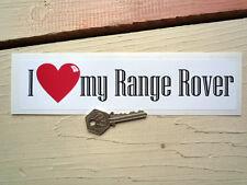 """Amo la mia Range Rover Classic Auto Paraurti Adesivo 9 """"Toolbox Solihull EVOQUE"""