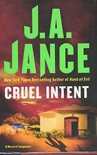 J. A. Jance Signed  Cruel Intent 1st Ed.  NF/F  2008
