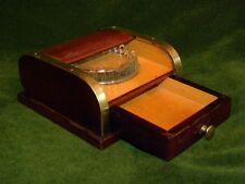 Very Unusual French Art Deco Cigarette Ashtray Roller Shutter Cigarette Box