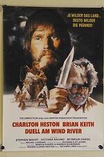 (Gerollt) Kinoplakat - Duell am Wind River (1980) Charlton Heston #3828