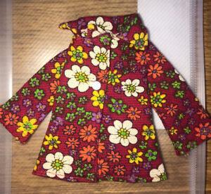 Vintage Sindy 1972 Red Floral Variant Blazer HTF #12S119