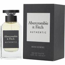 ABERCROMBIE & FITCH AUTHENTIC MAN EAU DE TOILETTE SPRAY 3.4 Oz / 100 ml NEW