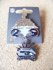 2014 Super Bowl SB 48 XLVIII Champions pin Seattle Seahawks dangle dangling
