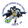 48 Personalised Party Bag Stickers Batman Sweet Bag Seals 40mm Labels
