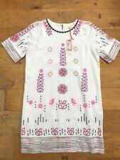 NEW BODEN ASTER Ladies White Tunic Fully Lined Linen Blend Dress @  UK 12 EU 40