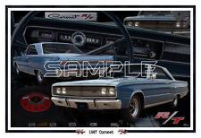 1967 67 Dodge Coronet RT Poster Print
