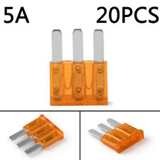20Pcs Micro3 Fuse Automotive ATL 5A 3 Prong Micro Blade Fuse For Ford Focus