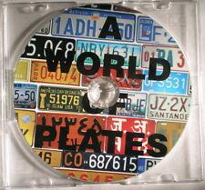 World License Plate CD Disc
