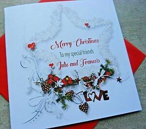 Handmade Personalised Christmas Card Friend Family Wife Husband Mum Dad B123