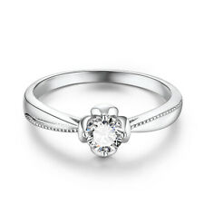 Engageme Gift Round Cut 4.5mm Moissanite 0.33ct Engagement 14k White Gold Ring
