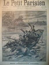 IRIGNY NOYADE DANS LE RHÔNE SUICIDE FILLE MARTYRE JOURNAL LE PETIT PARISIEN 1898