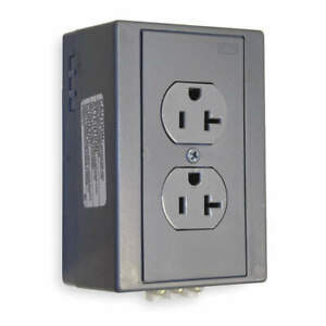 HUBBELL WIRING DEVICE-KELLEMS DRUB20 Din Rail Receptacle,Duplx,20A,5-20R,125V