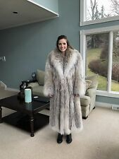 2017 CANADIAN SILVER LYNX LONG FUR COAT - ARCTIC ROYAL FOX CHINCHILLA SABLE MINK