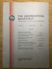 The Aeronautical Quarterly (Royal Aeronautical Society Journal) RARE Feb 1976