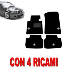 TAPPETINI AUTO SU MISURA PER BMW SERIE 3 (E46) IN MOQUETTE E GOMMA CON 4 RICAMI