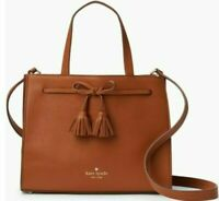 Kate Spade Hayes Street Isobel Small Handbag Crossbody Bag Satchel Brown NWT New