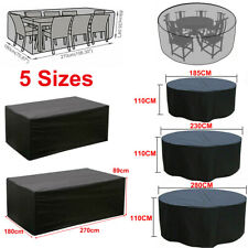 More details for large waterproof furniture cover outdoor garden patio table chair set protector