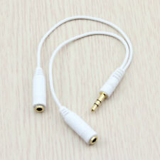 NEW 3.5mm 1 Male to2 Female Stereo Audio Spliter Cable iPhone 6 6S iPod MP3 MP4