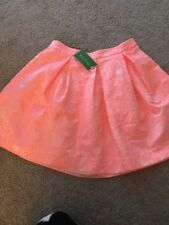 Lilly Pulitzer Harlie Skirt Womens 2 Peachy Pink New Nwt Word On The Street