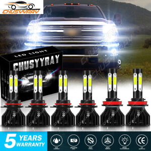 For Chevrolet  Express 3500 LED Headlight Fog Kit Bulb 6000K White High Low Beam