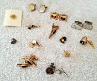 Vintage Antique 1950's Lot of 18 ~ Variety of Cufflinks & Tie Pins