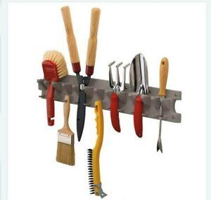 Suncast V713 2 Foot Wall Mounted Garage Garden Hand Tool Organizer