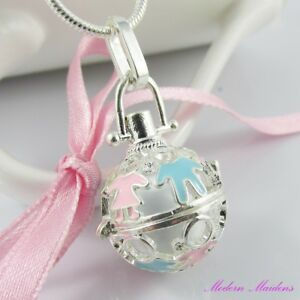 New Mum to be Gift Harmony Ball Cage Pendant Necklace 61cm 925 Snake Chain